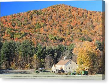 Mohawk Trail Fall Foliage And Farm Canvas Print by John Burk