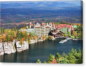 Mohonk Mountain House Canvas Print by June Marie Sobrito