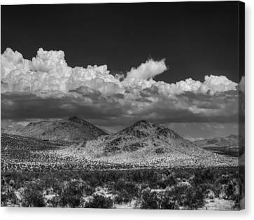 Canvas Print featuring the photograph Mojave 020 Bw by Lance Vaughn