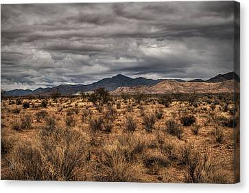 Canvas Print featuring the photograph Mojave Landscape 001 by Lance Vaughn