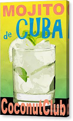 Mojito De Cuba Coconut Club Canvas Print by Edward Fielding