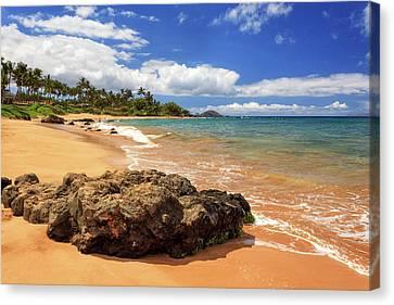 Mokapu Beach Maui Canvas Print by James Eddy