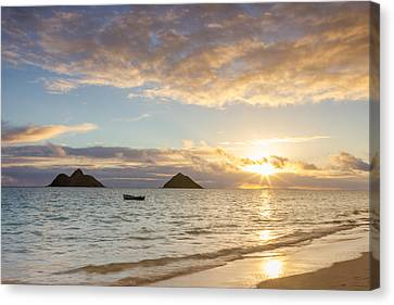 Mokulua Morning Canvas Print by Penny Meyers