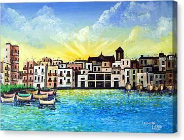Mola Di Bari 1980 Canvas Print