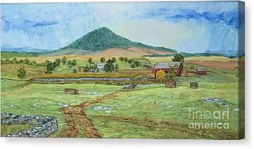 Mole Hill Panorama Canvas Print by Judith Espinoza