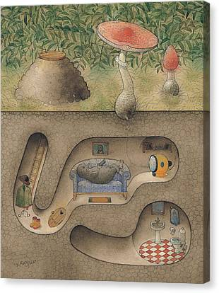 Cellar Canvas Print - Mole by Kestutis Kasparavicius