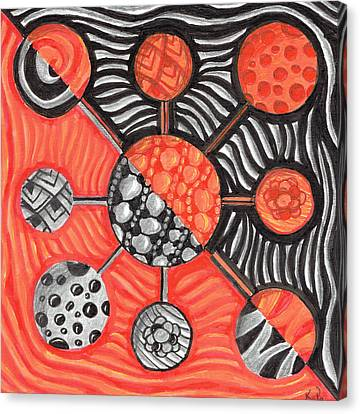 Molecular Confusion Canvas Print by Kitty Perkins