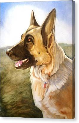 Mollie Canvas Print by Marilyn Jacobson