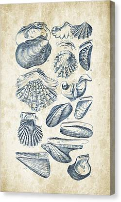 Mollusks - 1842 - 09 Canvas Print by Aged Pixel