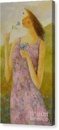 Molly Bloom Canvas Print by Glenn Quist