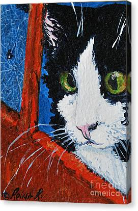 Canvas Print featuring the painting Molly by Reina Resto