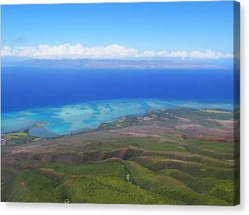 Molokai Island Reef In Hawaii Canvas Print by Stacia Blase