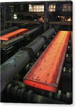 Molten Metal Bars Canvas Print by Ria Novosti