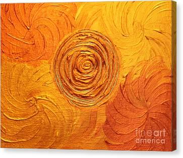 Molten Spiral Canvas Print by Rachel Hannah