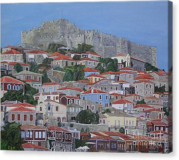 Canvas Print featuring the painting Molyvos II by Eric Kempson