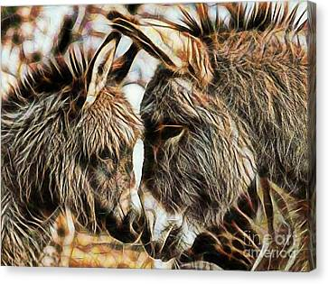 Mom And Child Canvas Print by Marvin Blaine
