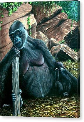 Mom Canvas Print by Antonio F Branco