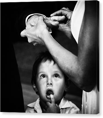 Expressions Canvas Print - Mom, Dad, What's Going On?? by Santiago Trupkin
