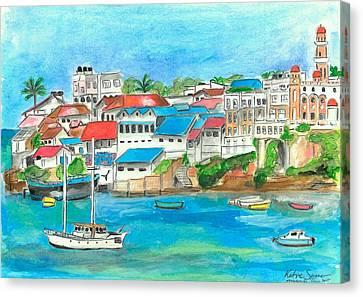 Mombasa Town Canvas Print