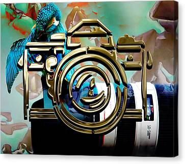 Moment In Time Camera Collection Canvas Print by Marvin Blaine
