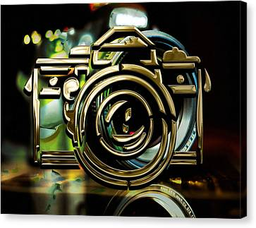 Moment Maker Camera Collection Canvas Print by Marvin Blaine