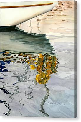 Moment Of Reflection Ix Canvas Print by Marguerite Chadwick-Juner