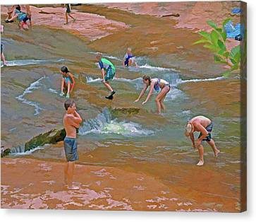 Oak Creek Canvas Print - Moments 8 by Lynda Lehmann
