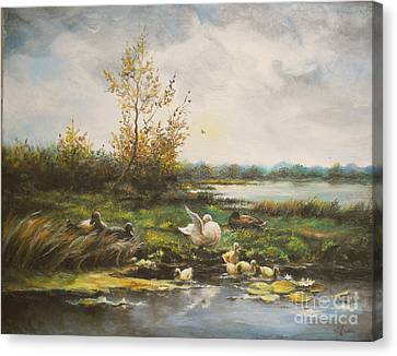 Moments Of Silence Canvas Print by Sorin Apostolescu