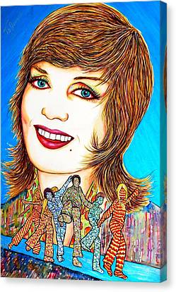 Momma Brady N Da Bunch Canvas Print by Joseph Lawrence Vasile