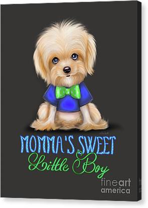 Mommas Sweet Little Boy Canvas Print