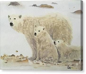 Mommy Bear Canvas Print by Annie Poitras