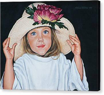 Mommy's Hat Canvas Print by Penny Birch-Williams