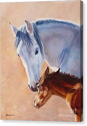 Mommy's Love Canvas Print by Danielle Smith