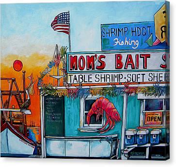 Moms Bait Shop Canvas Print