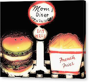 Mom's Diner - Open 24 Hours Canvas Print by Steve Ohlsen