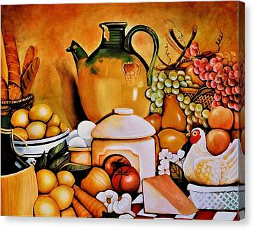 Mom's Kitchen Canvas Print by Dalgis Edelson