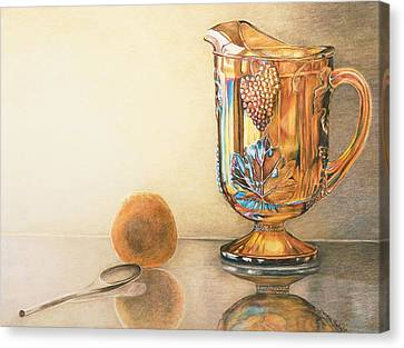 Mom's Orange Juice Pitcher Canvas Print by Charlotte Yealey