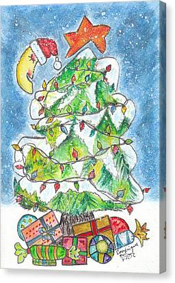 Rememberance Canvas Print - Mon Beau Sapin by Dominique Fortier