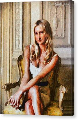 Mona Lisa Blond And Modern Canvas Print
