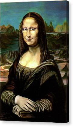 Mona Lisa My Version Canvas Print by Elisabeth Dubois