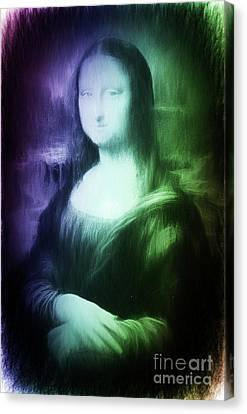 Mona Lisa New Age Digital Art Canvas Print