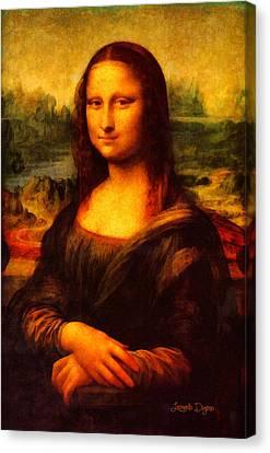 Mona Lisa Revisited - Da Canvas Print by Leonardo Digenio
