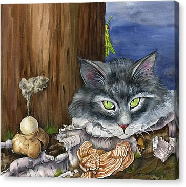 Mona With The Mushrooms Canvas Print by Mindy Lighthipe