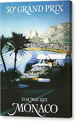 Monaco 1972 Grand Prix Canvas Print