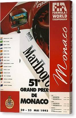 City Streets Canvas Print - Monaco F1 1993 by Georgia Fowler