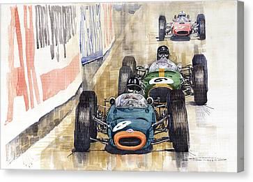 Monaco Gp 1964 Brm Brabham Ferrari Canvas Print