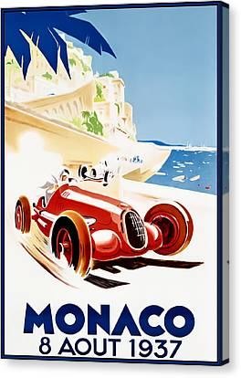 Monaco Grand Prix 1937 Canvas Print by Georgia Fowler