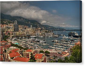 Canvas Print featuring the photograph Monaco - La Condamine 001 by Lance Vaughn
