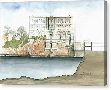 Monaco Oceanographic Museum Canvas Print