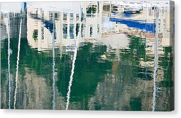 Monaco Reflection Canvas Print by Keith Armstrong
